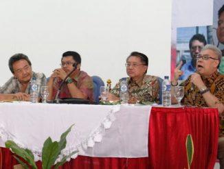 (Kiri ke kanan) Trisno Sutanto, Zuhairi Misrawi, Rudy Pratikno dan Handoyo Budhisedjati [HIDUP/Edward Wirawan]