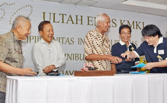 Perayaan 50 Tahun KMKI di Gedung Yustinus Unika Atma Jaya Jakarta.[Hamidi Soetopo]